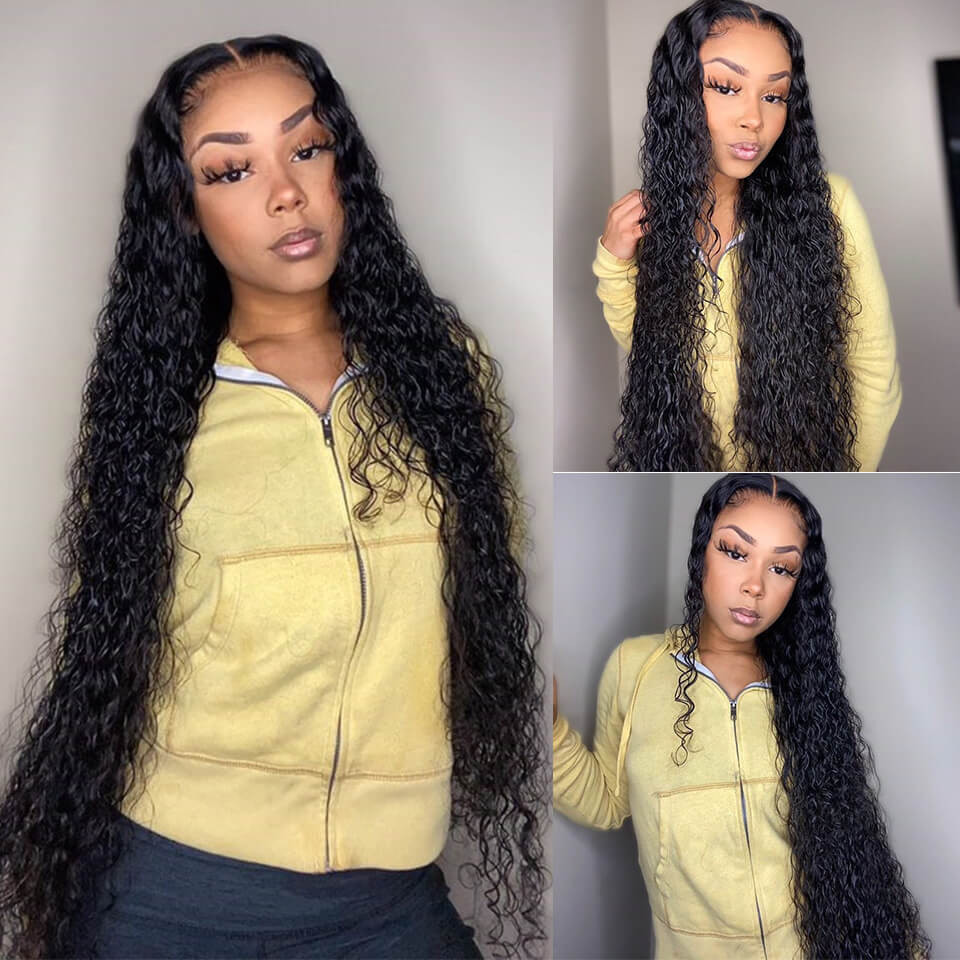 Water Wave 16 36 Inch 13 6 Human Hair Lace Front Wigs With Baby Hair Yolissa Hair